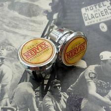 Vintage Style Nervex Pro Chrome Racing Bar Plugs, Caps, Repro