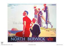 NORTH BERWICK SCOTLAND RETRO VINTAGE RAILWAY TRAVEL POSTER ADVERTISIING ART