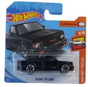 2020 Hot Wheels - Short Card - #150 '91 GMC Cyclone Pick-Up  Black HW Hot Trucks