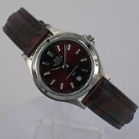 Glycine Women's Watch Quartz with Leather Strap and Date 3689.16 Steel NEW