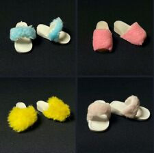 More details for pedigree sindy furry slippers bedroom shoes faux fake fur fluffy fit feet 2.5cm