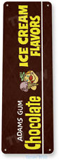 Chocolate Ice Cream Gum Sign, Chewing Gum Retro Food Candy Tin Sign B709
