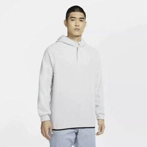 Nike Therma 1/4 Zip Men's Size M Fleece Golf Hoodie Gray CQ7728-042