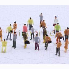 100pcs 1:100 Scale HO Gauge Painted Model People for DIY Layout Figure