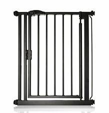 More details for safetots premium auto close narrow  stair gate matt black baby gate 68.5-75cm