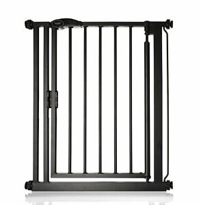 Safetots Premium Auto Close Narrow  Stair Gate Matt Black Baby Gate 68.5-75cm