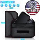 Faraday Bag // RFID Signal Blocking Shielding Pouch // Cell Phone Wallet Case