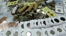 15 COIN LOT FROM HUGE ESTATE BUY! WWII,ANCIENT,1800'S,BARBER, SILVER BONUS!!!!