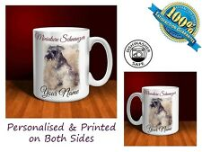 Miniature Schnauzer Personalised Ceramic Mug: Perfect Gift. (D045)