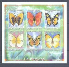 MALI 1999, Butterflies, imperf. set of 6 (MS), MNH**(72)