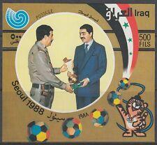 Iraq iraq 1982 ** bl.60 Presidente President Saddam Hussein COPPA cup