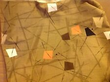 RETRO CONTEMPORARY DRAPERY OR UPHOLSTERY FABRIC MATERIAL - APPROX  22 YDS