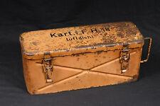 ** STENCIL ** WW2 GERMAN AMMO CASE TIN Kart. l. F.H.18 10.5cm HOWITZER