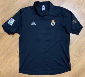 Real Madrid 2001/2002 Centenary Away Football Shirt Jersey Adidas #10 Figo L