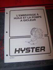 AG Manuel Hyster embrayage huile pompe gicleur H150-H275H H300-350B P150B P200B
