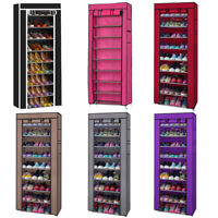 New Portable Shoe Cabinet Rack Shelf Storage Closet Organizer with Cover US