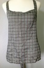 **46/L** Prada 100% Cotton Lined Halter Dress Blouse Shirt Top Tunic Tank ITALY