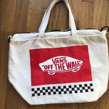 Vans bag Tote bag  Shoulder Bag  Unisex  Plaid Canvas Rare Free Shipping