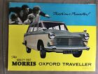 Vintage Morris Oxford Traveller 12-sided fold-out colour sales brochure 1963
