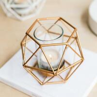 6-set Geometric Polished Tealight Candle Holder Table Top Centerpiece Wedding