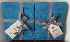 West Elm Tencel Cotton Matelasse EURO Shams (Set of 2) ~ Teal Blue