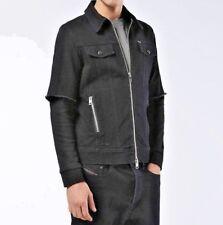 NEW Diesel Men's Hober Denim Trucker Jacket Black Size XL MSRP $298