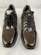 HOGAN Interactive SNEAKERS Shoes Women size 40 / 9 Brown Suede Walking Lace Up