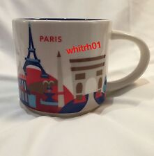 Starbucks Paris Mug YAH France Eiffel Tower Arc Triomphe Coffee Cup You Are Here
