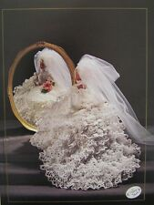 Annie's Attic Fashion Bed Doll Bride Gown Crochet Pattern 1991 1992 Antebellum