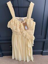 Amarillo Lipsy Vestido Talla 12 perfecto para la boda o fiesta BNWT