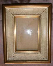 Cadre bois peint blanc & doré - encadrement peinture miniature gouache ou photo