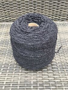 500g BLACK AND WHITE BOUCLE YARN 4PLY Cone wool Crochet Knitting crafts Clearout