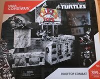 NEW Mega Construx Teenage Mutant Ninja Turtles Rooftop Combat 399 Piece Set!