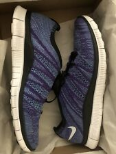 Nike Free Flyknit NSW HTM 599459-500 Size 9 Court Purple Lunar Shoes