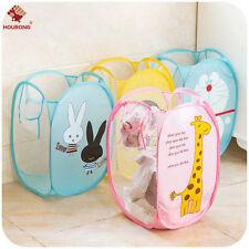 Cartoon Laundry Bag Pop Up Mesh Foldable Washing Basket Toy Cloth Storage Bag