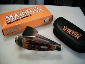 Marbles Folding Ax With Knife #MR111, Fantastic Stag Handles, Case, NIB