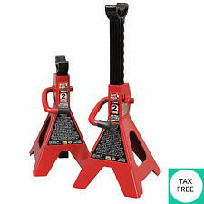 Car Truck High Lift Jack Stands 2 Ton Tool Set Steel Auto Vehicle Support Garage