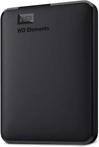WD Western Digital Elements Portable External Hard Drive, USB 3.0  Black