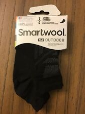Smartwool PHd No Show Socks. Size Large. Black