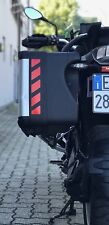 RED REFLECTIVE VARIO SAFETY CHEVRONS TO FIT BMW R1200GS VARIO PANNIERS