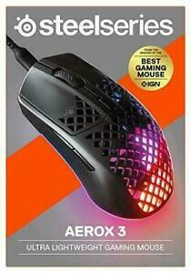 Aerox 3 Steelseries-UltraLight Gaming Mouse - 8,500 CPI TrueMove Core Optical