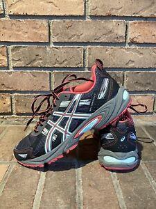 ASICS Gel Venture 5 Women's Black / Pink / Aqua Running Shoes Size 7 ~ T5N9N(D)