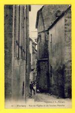 cpa FRANCE FLAVIGNY sur OZERAIN Côte d'Or Rue de l'Eglise et de l'Ancien Marché