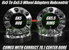4 WHEEL ADAPTERS 6x5 to 6x5.5 | 6x127 TO 6X139.7 TRAILBLAZER ENVOY 1.25 INCH