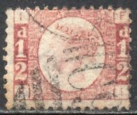 1870 Sg 48 ½d Rose-red 'FI' with Duplex Cancellation Fine Used