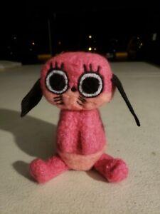 Pink Anime Dog felted plush