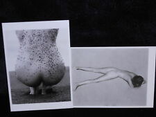 2 photo postcards Female Nudes in the Sand Weston Ritts