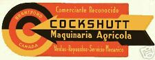 Cockshutt tractors dealer from Argentina sign poster