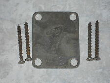 "Fender Stratocaster / Telecaster ""F"" Neck plate RELIC 4-bolt OLD AGED ANTIQUE"