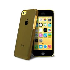 Coque housse étui Crystal Extra fine 0.8mm Pour iPhone 5C Noire